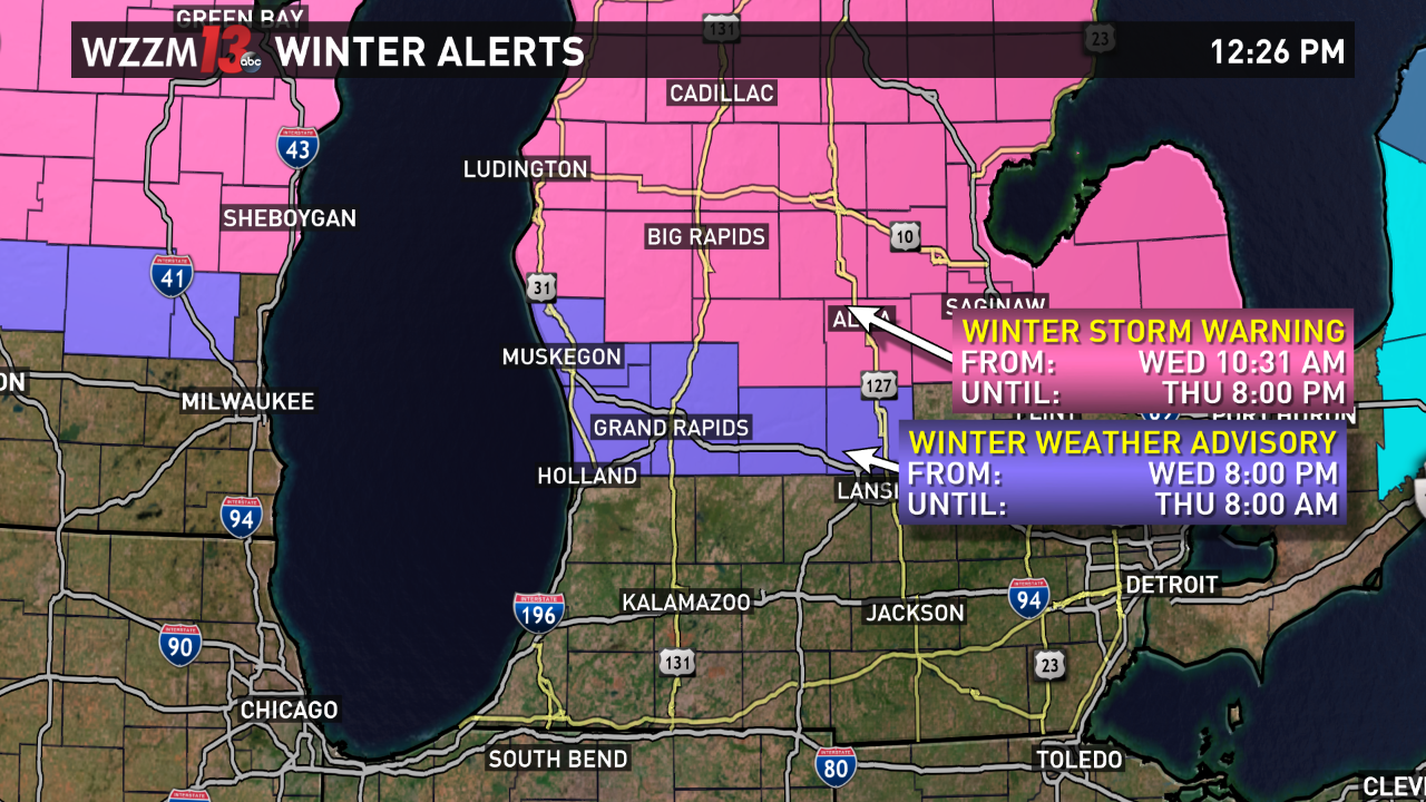 Winter Storm Incoming Michigan Targeted For Ice Snow