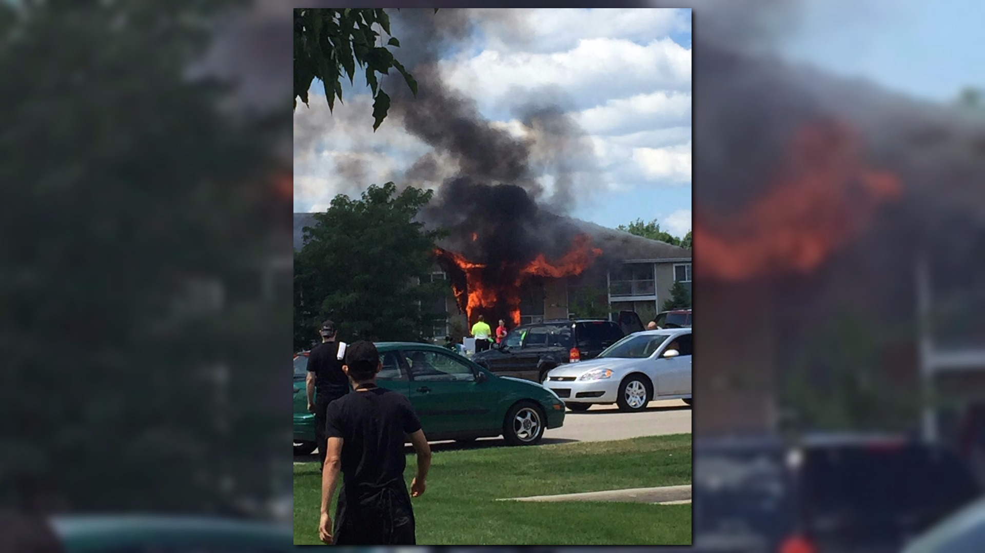 balcony fire heavily damages wyoming apartment com