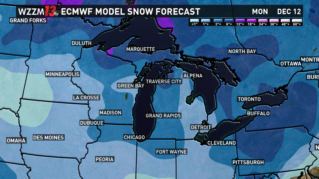 Arctic Air And Snow Likely Next Week Wzzm13 Com