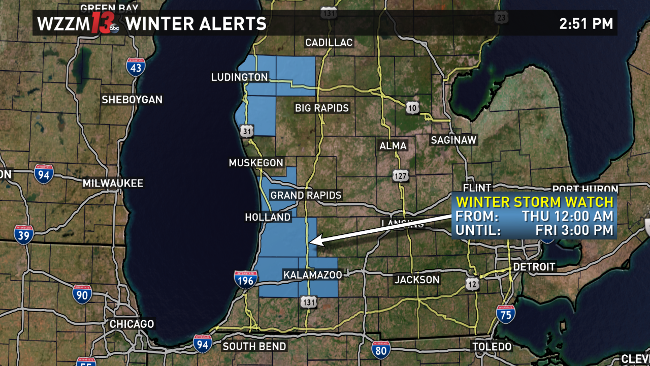 Lake Effect Snow Incoming Winter Storm Watch Posted For