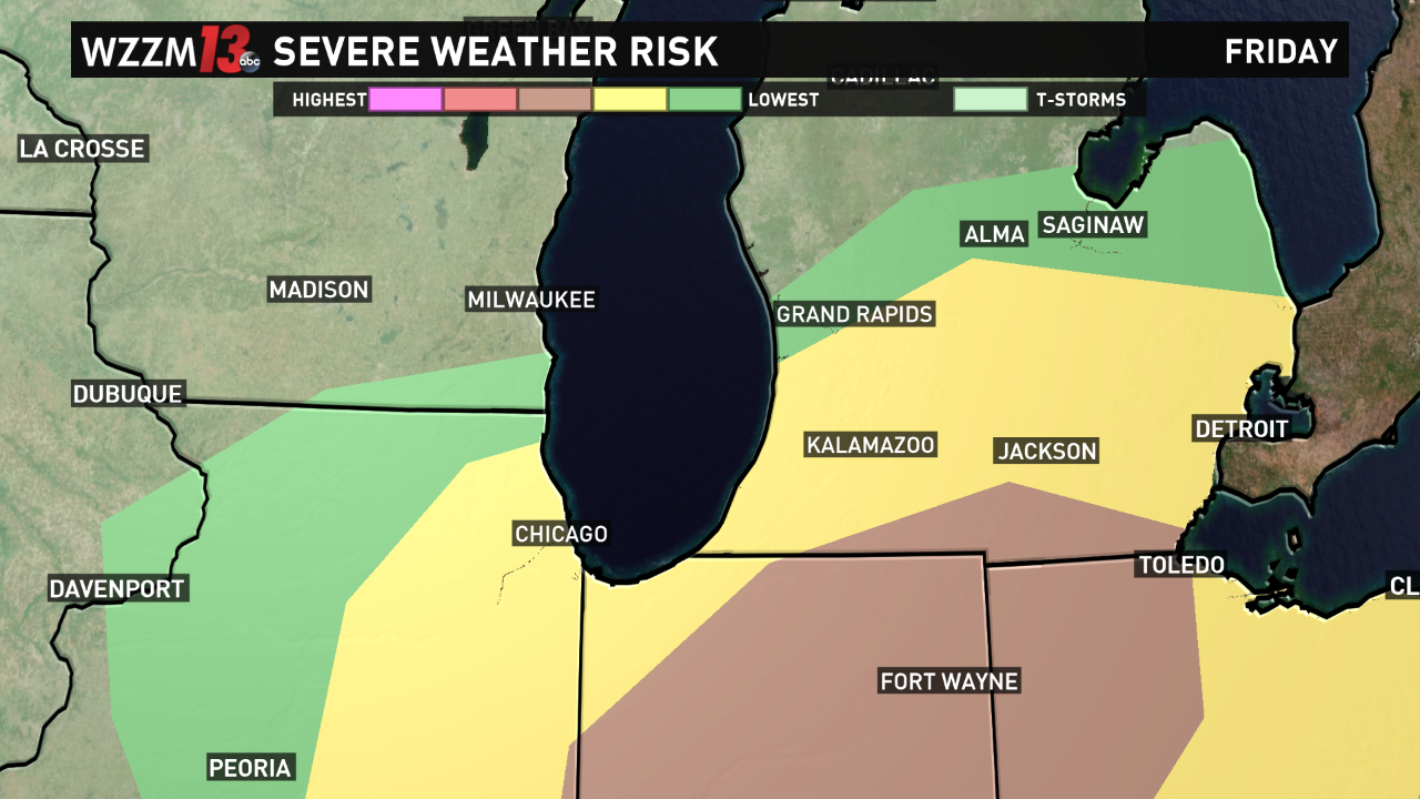Year S 1st Severe Weather Threat Possible Friday Wzzm13 Com