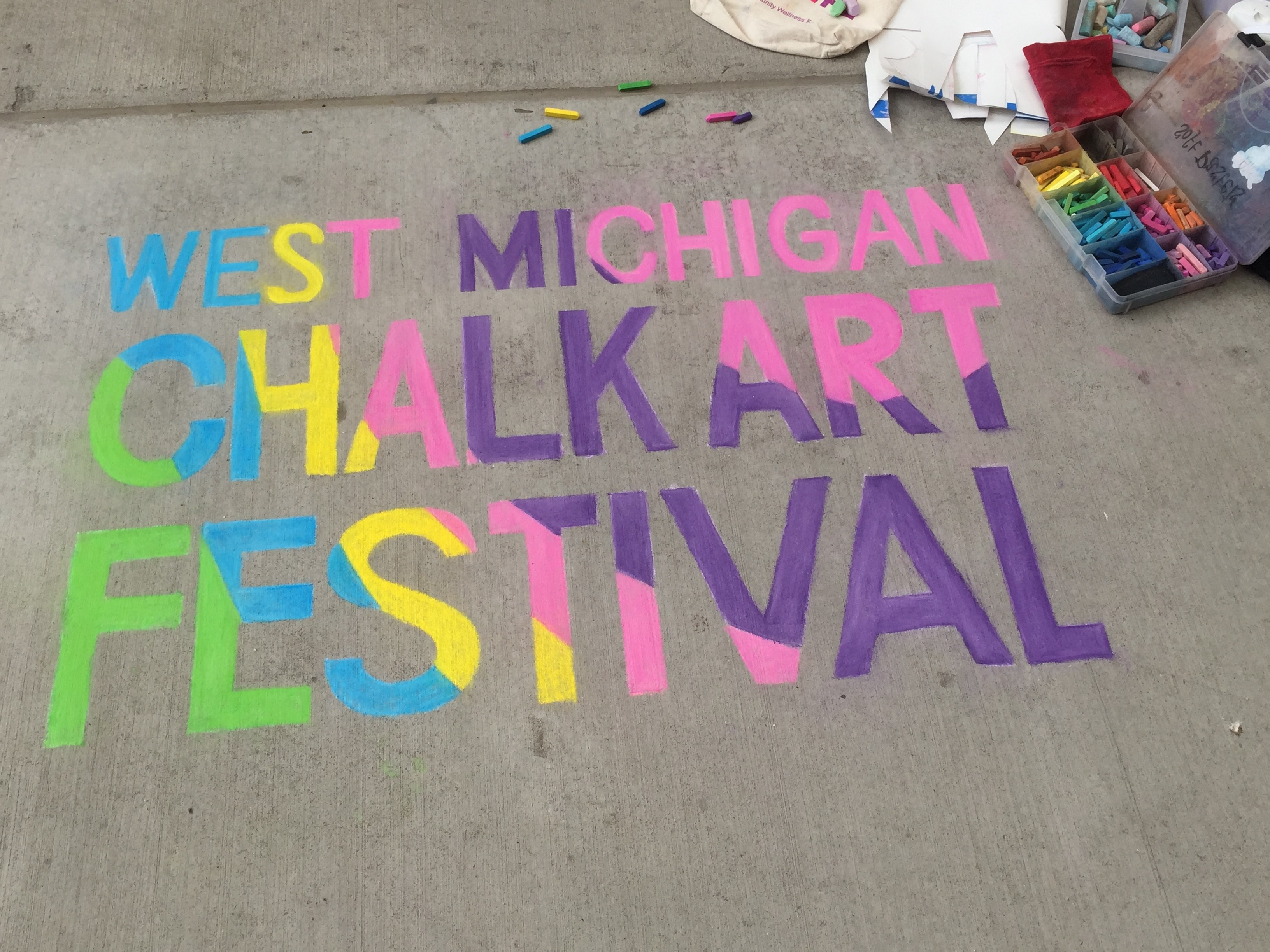 West michigan chalk art festival in its 8th year for Craft show in michigan